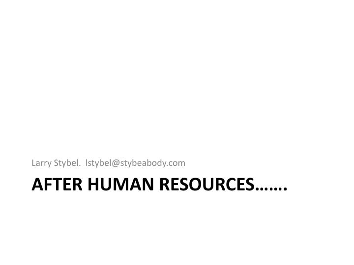 after human resources n.