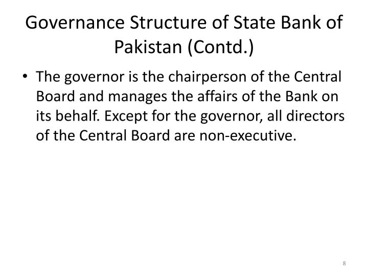 Governance Structure of State Bank of Pakistan (Contd.)