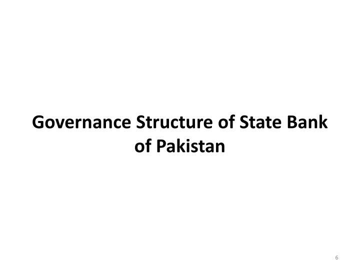 Governance Structure of State Bank of