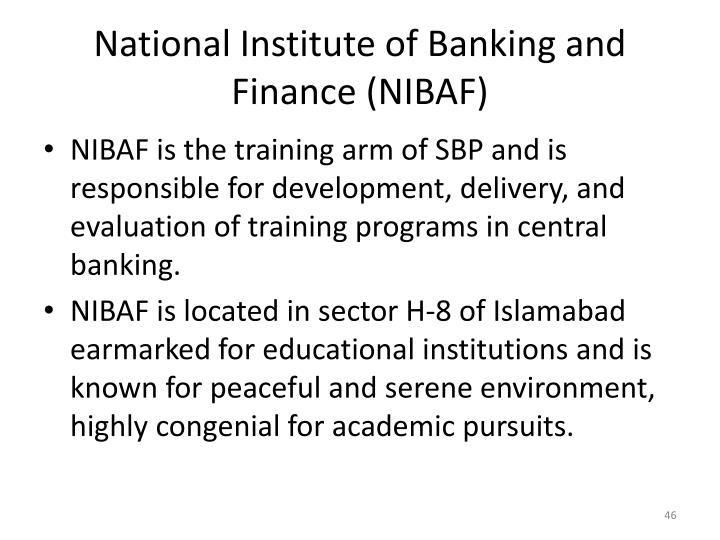 National Institute of Banking and Finance (NIBAF)