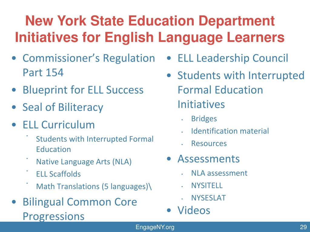 PPT - Scaffolds for English Language Learners in the NYS ELA and