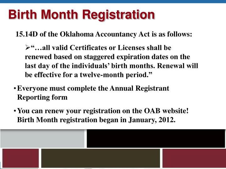 Birth Month Registration