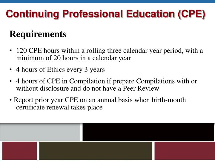 Continuing Professional Education (CPE)