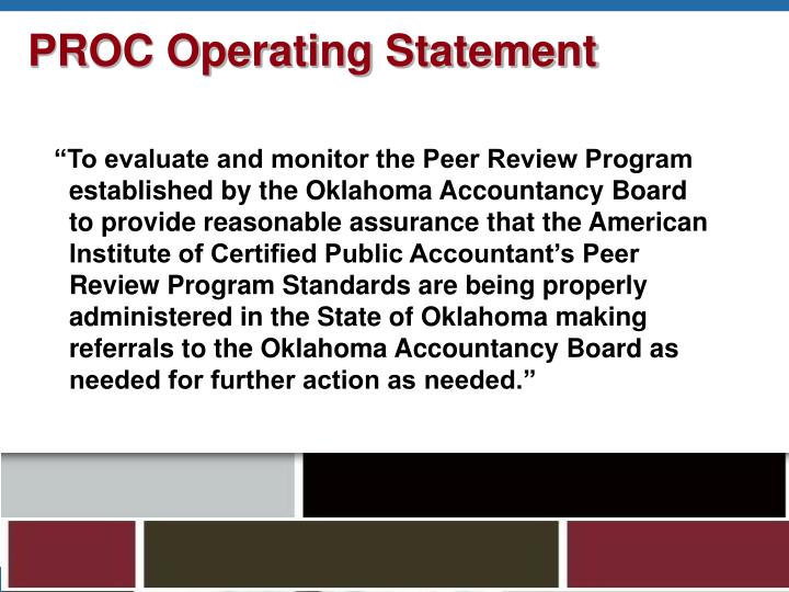 PROC Operating Statement