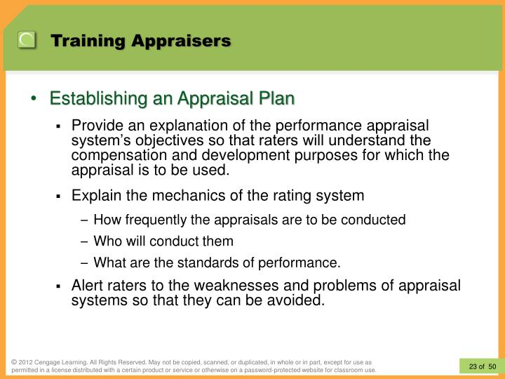 Training Appraisers