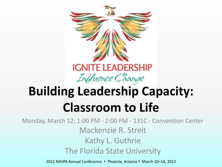 building leadership capacity classroom to life n.