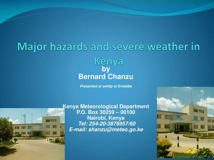 major hazards and severe weather in kenya n.