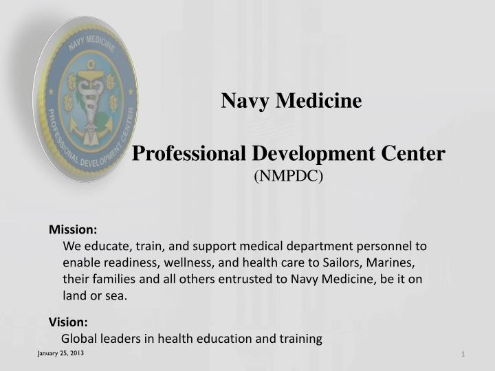 navy medicine professional development center nmpdc n.