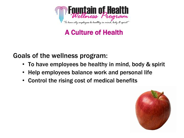 A Culture of Health