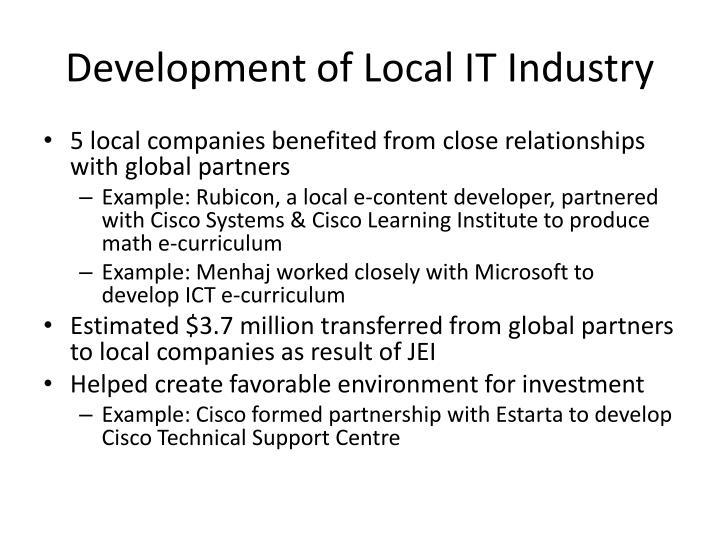 Development of Local IT Industry