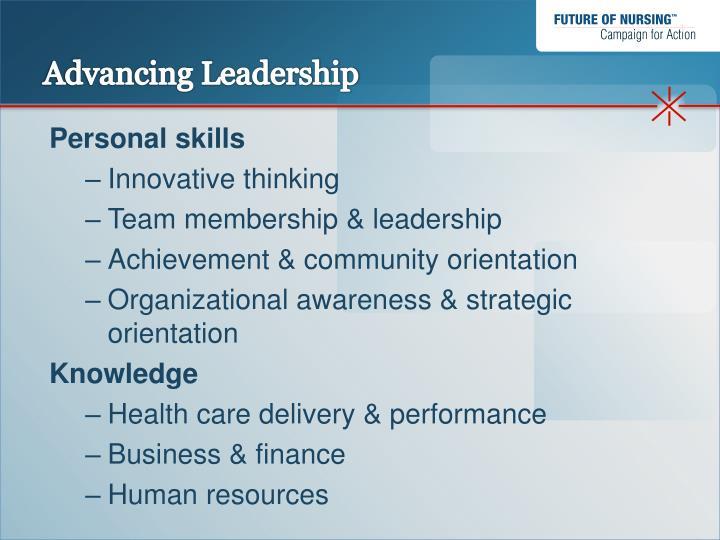 Advancing Leadership
