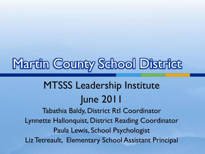martin county school district n.