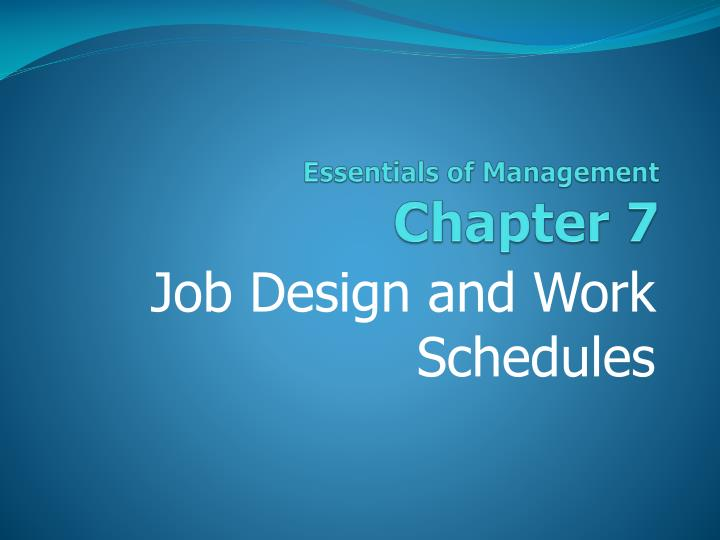 essentials of management chapter 7 n.