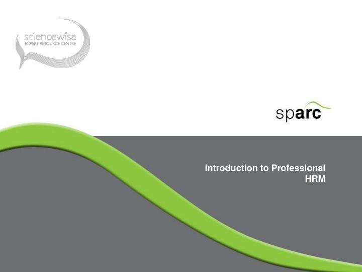 introduction to professional hrm n.