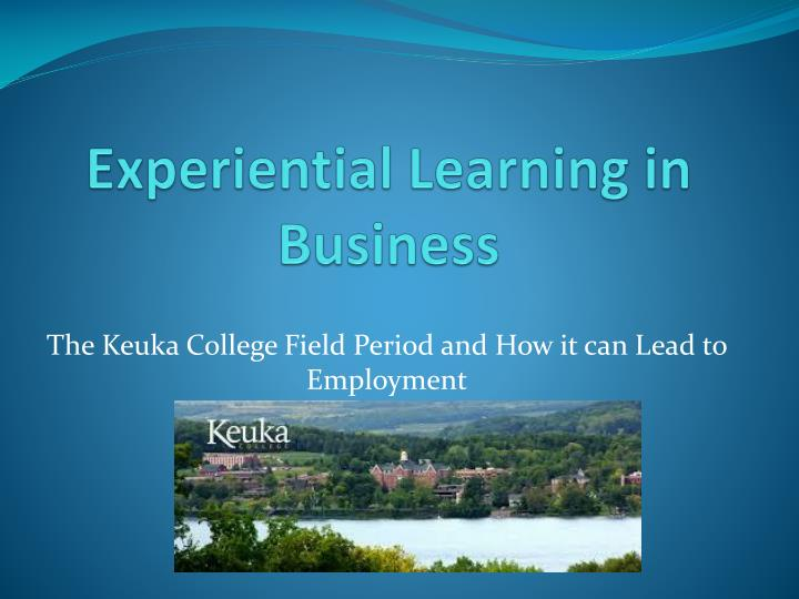 experiential learning in business n.