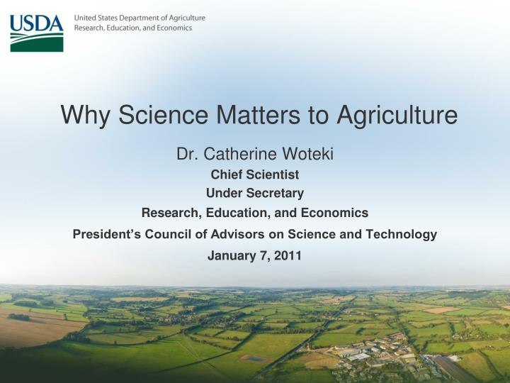 why science matters to agriculture n.