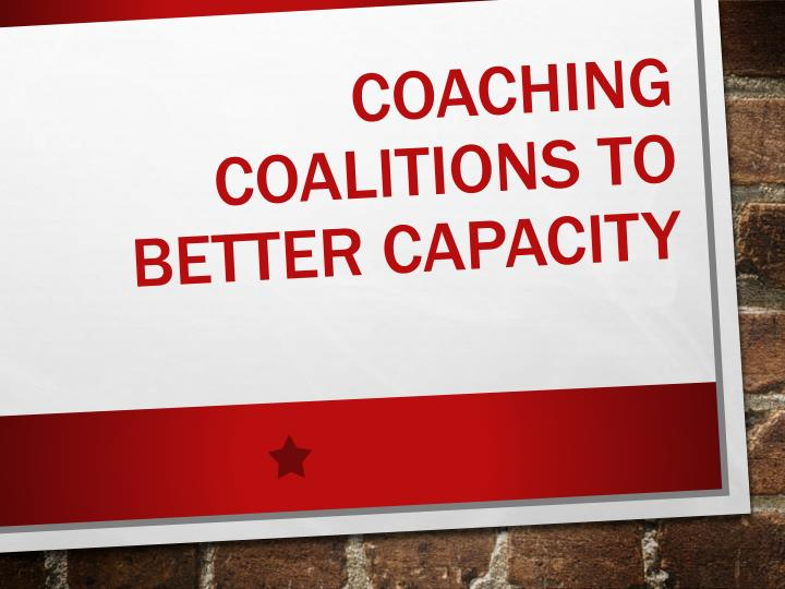 coaching coalitions to better capacity n.