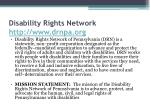 disability rights network http www drnpa org