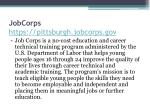 jobcorps https pittsburgh jobcorps gov