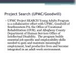 project search upmc goodwill