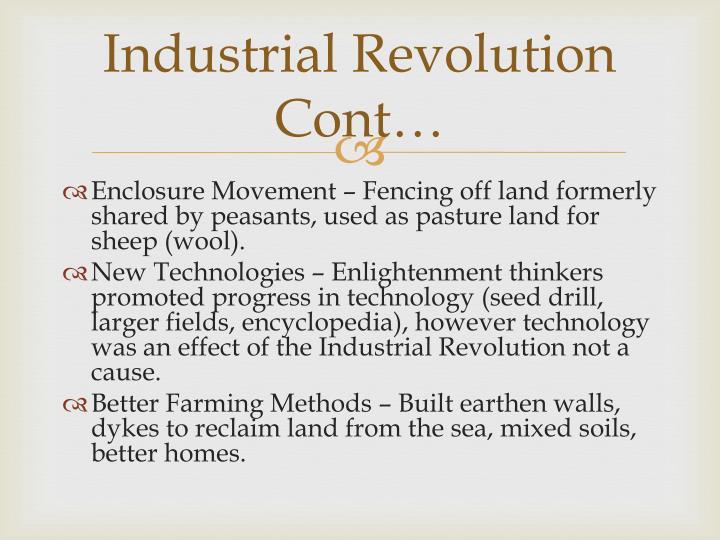Industrial Revolution Cont…