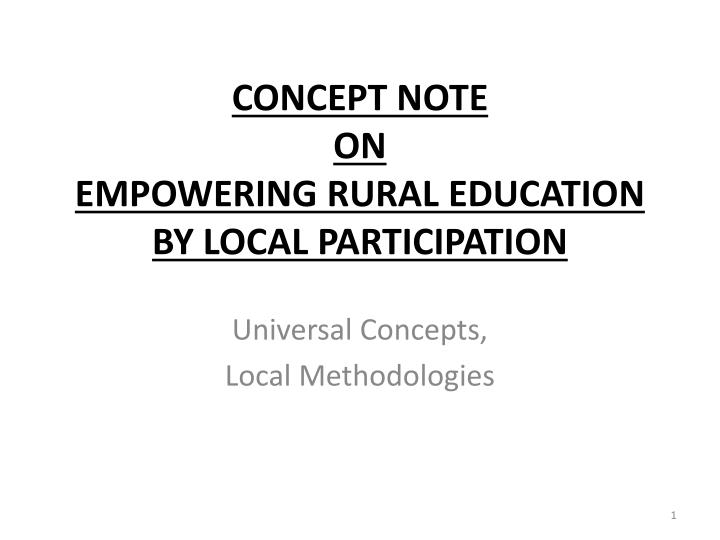 concept note on empowering rural education by local participation n.