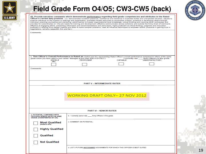 Field Grade Form