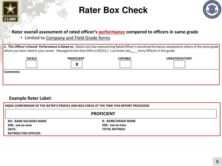 Rater Box Check
