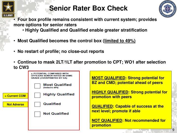 Senior Rater Box