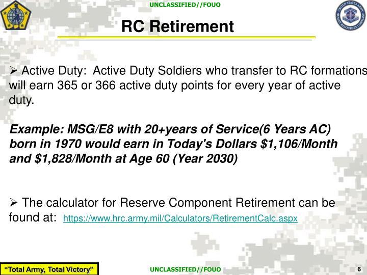 RC Retirement