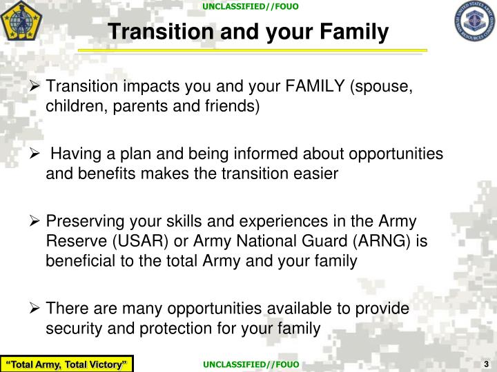 Transition and your family