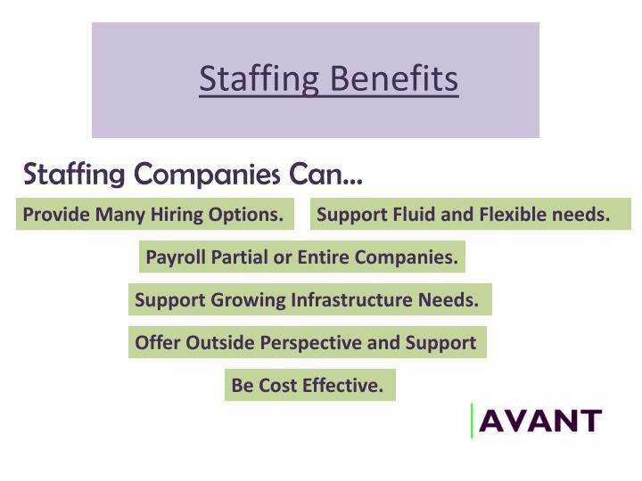 Staffing Benefits