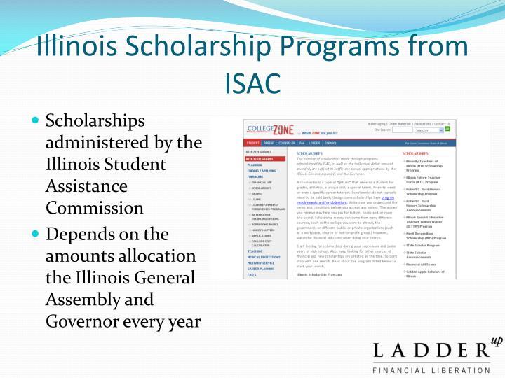 Illinois Scholarship Programs from ISAC
