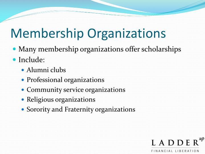Membership Organizations