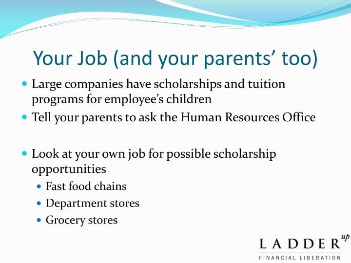 Your Job (and your parents' too)