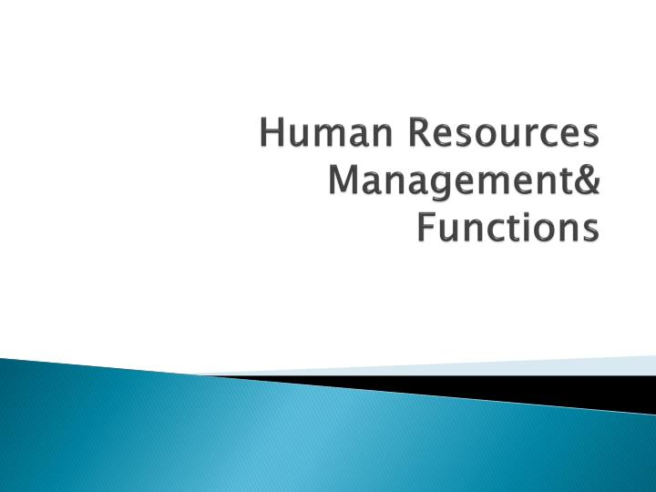 human resources management functions n.