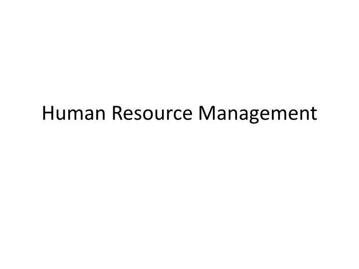 human resource management n.