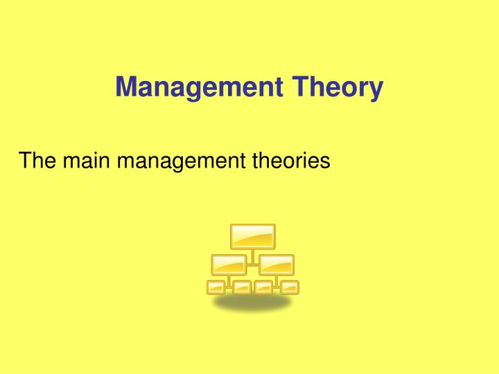 the main management theories n.