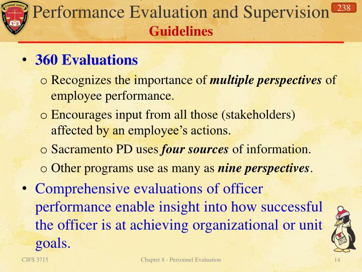 Performance Evaluation and Supervision