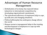 advantages of human resource management