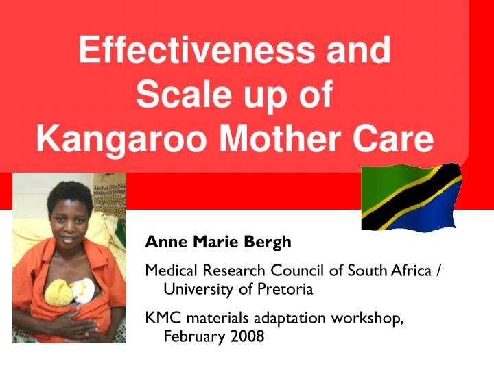 effectiveness and scale up of kangaroo mother care n.