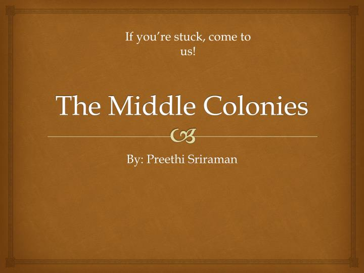 the middle colonies n.