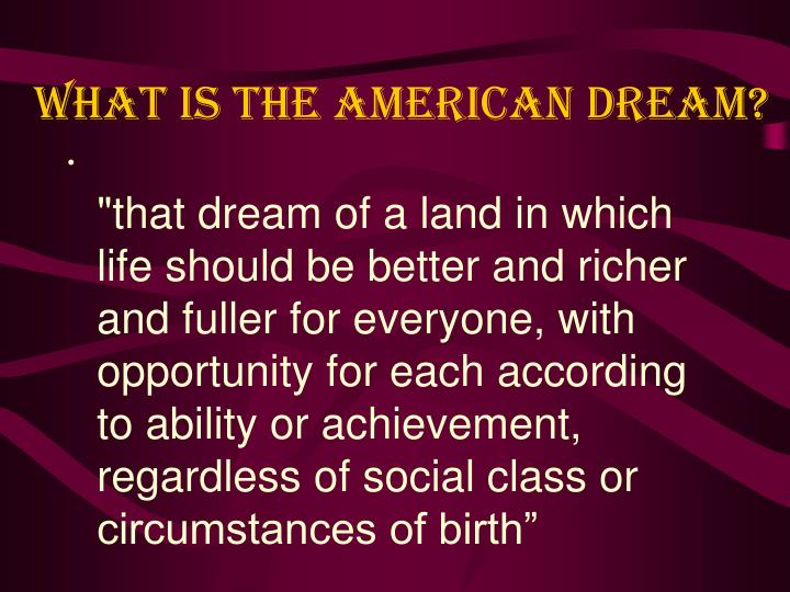 what is the american dream n.