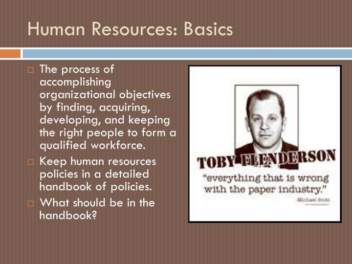 Human Resources: Basics