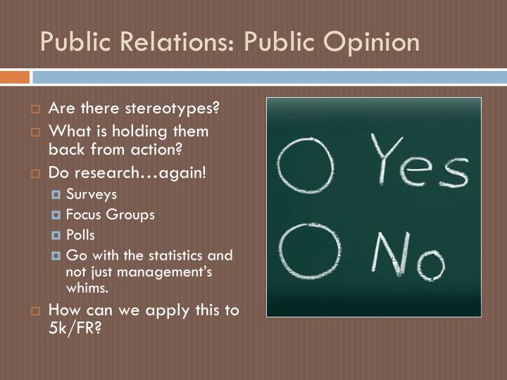 Public Relations: Public