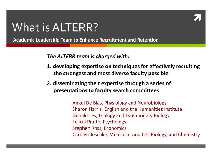 what is alterr n.
