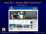 how do i access web time entry