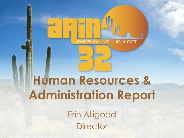 human resources administration report n.