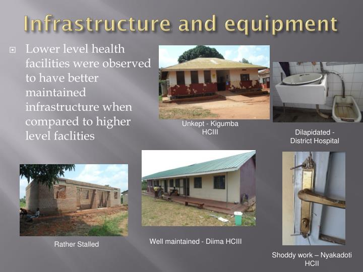 Infrastructure and equipment