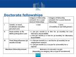 doctorate fellowships